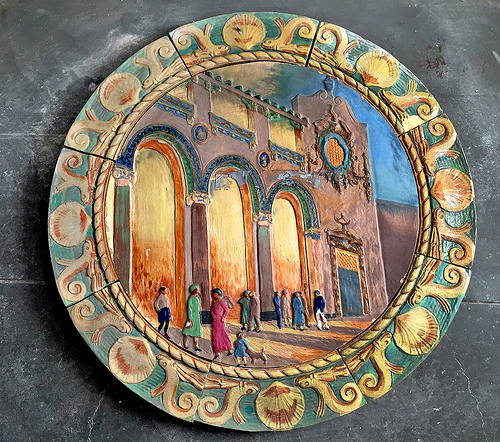 Childs medallion at Coney Island History Project