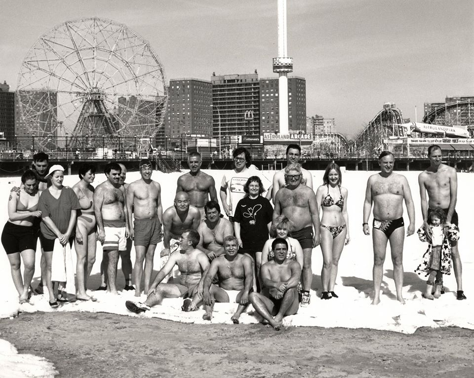 Coney Island Polar Bears in the 1990s. Photo © Tom McGann
