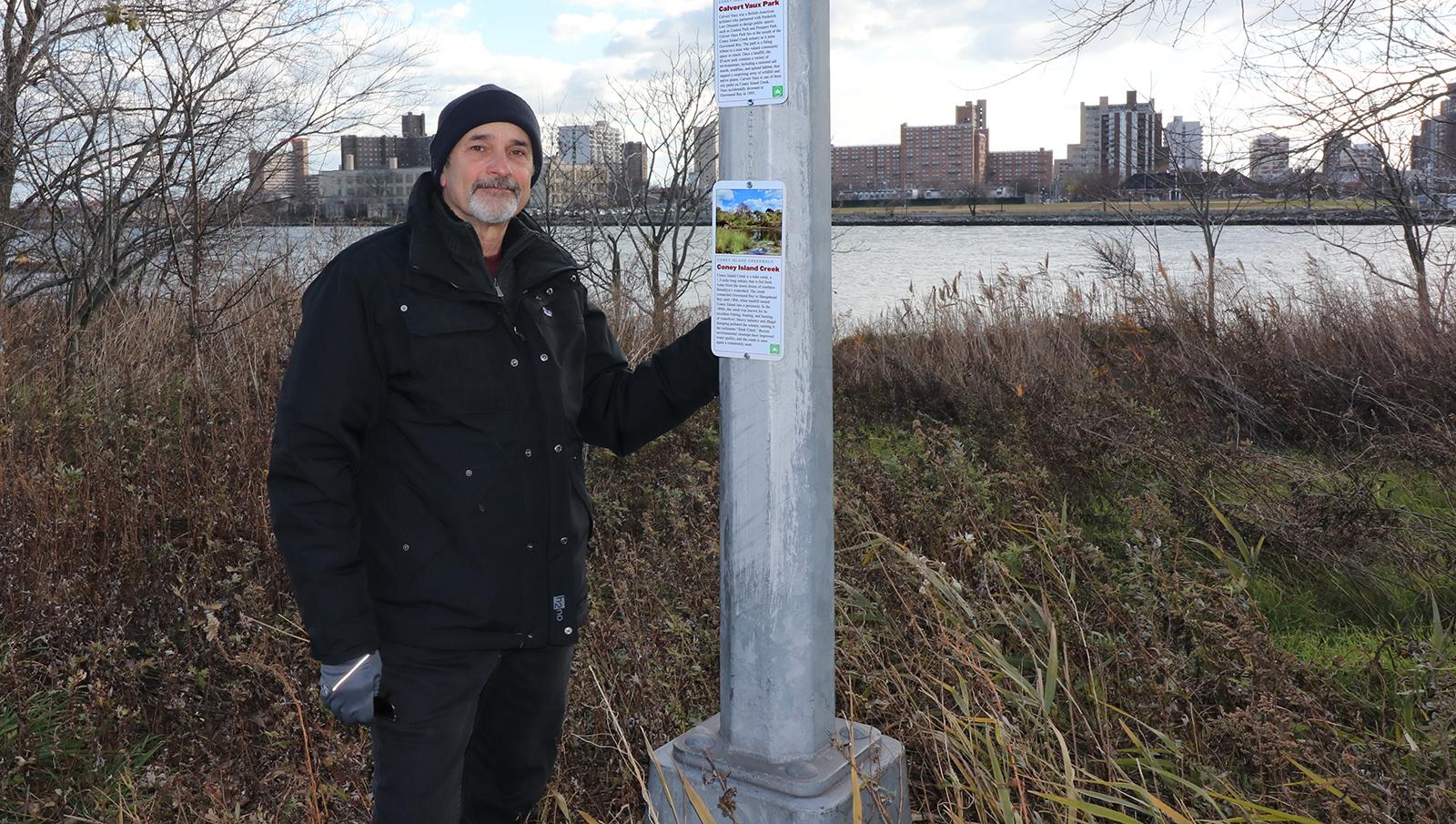 Charles Denson at Coney Island Creek