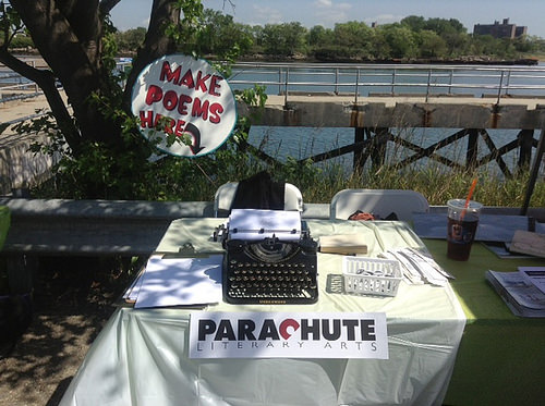 Parachute Literary Arts Poetry Making Station