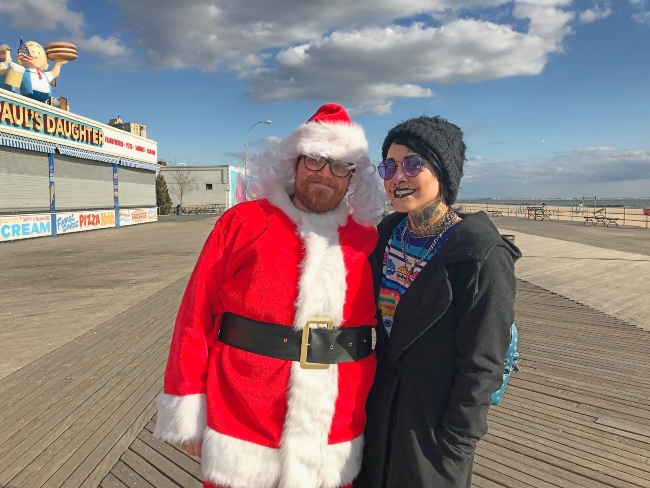 Santa on the Boardwalk
