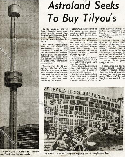 Astroland seeks to buy Tilyou's - Coney Island History Project Collection